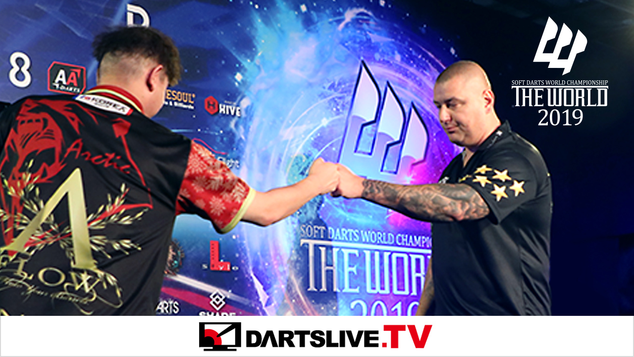 為您播放THE WORLD 2019 FEATURED MATCH 4精彩賽事【DARTSLIVE.TV】