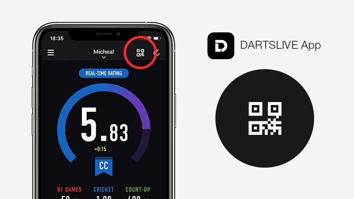 STEP1 Start camera with the button on the dashboard on the DARTSLIVE app.