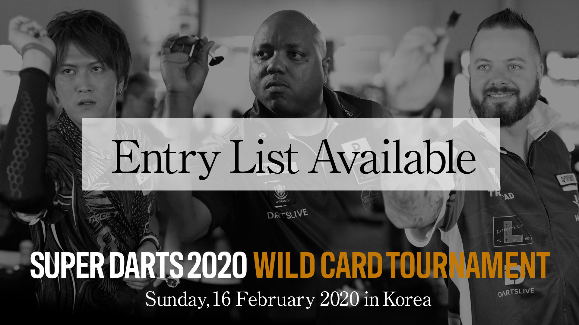 【Entry List Available】SUPER DARTS 2020 WILD CARD TOURNAMENT