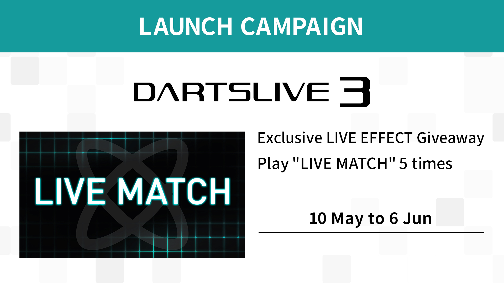 DARTSLIVE3 LAUNCH CAMPAIGN -