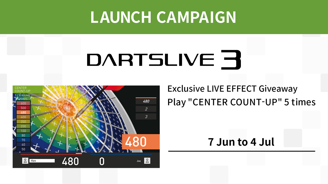 DARTSLIVE3 LAUNCH CAMPAIGN Begins!