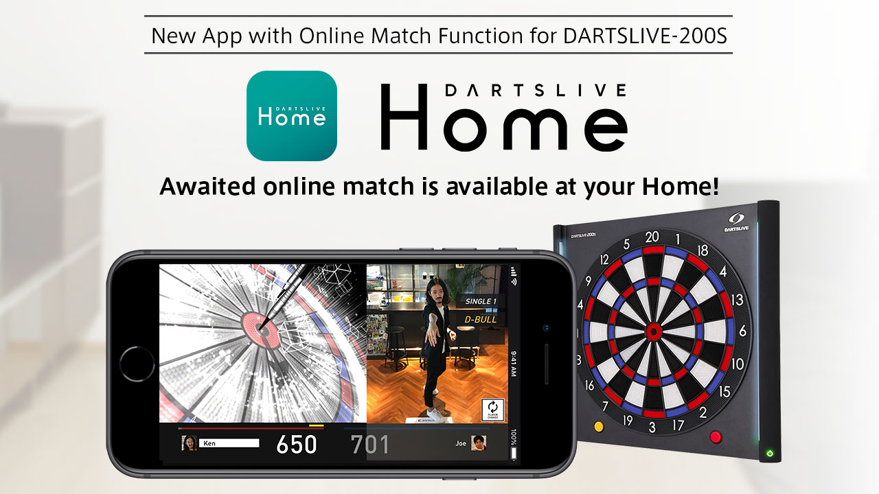 """Online Match at Home! New App """"DARTSLIVE HOME"""" available"""